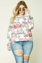 Forever 21 Plus Size Floral Sweatshirt
