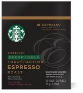 Starbucks VerismoTM 12-Count Decaf Espresso Roast Espresso Pods