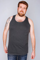 Yours Clothing D555 Charcoal Marl Crew Neck Vest