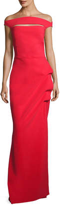 Chiara Boni Off-the-Shoulder Jersey Gown