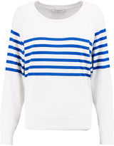 Sandro Sefor striped stretch-knit sweater