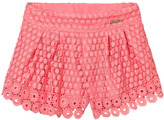 Mayoral Coral Lace Shorts