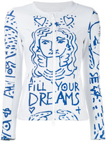 Rossignol printed zip-up jacket - women - Cotton/Polyamide/Polyester/Spandex/Elastane - S