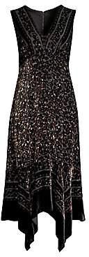 Nanette Lepore Women's Aroma Leopard Burnout Velvet Midi Dress