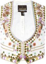 Roberto Cavalli embroidered waistcoat - women - Linen/Flax/Nylon/Cotton - 40