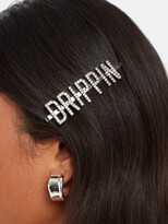 """Thumbnail for your product : Kitsch Drippin"""" Rhinestone Bobby Pin"""