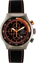 TP Men's 45 MM ORANGE Aluminum Case Black and Orange Dial Chronograph Tachymeter Date Watch