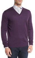 Ermenegildo Zegna High-Performance Wool Sweater, Plum