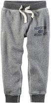 "Carter's Toddler Boy Gray ""Property of Awesome Dept."" Knit Pants"