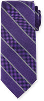 Neiman Marcus Multi-Striped Silk Tie, Purple