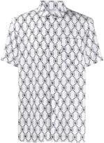 Neil Barrett logo print short-sleeved shirt