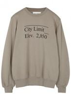 Public School Stoma Taupe Printed Cotton Sweatshirt