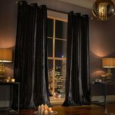 Kylie Minogue Iliana Lined Eyelet Curtain Black 66x90