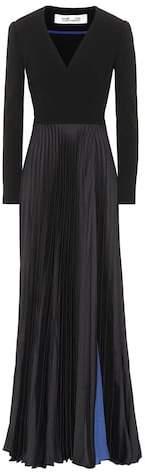 Diane von Furstenberg Crêpe and satin gown