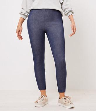 LOFT Curvy Side Zip High Waist Skinny Pants