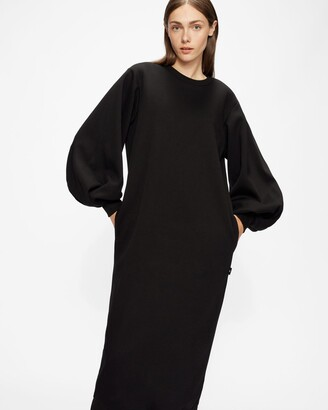 Ted Baker Sweatshirt Maxi Dress With Statement Sleeves