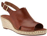 Clarks As Is Artisan Leather Espadrille Wedge Sandals - Petrina Meera