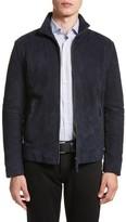 Armani Collezioni Men's Regular Fit Mixed Media Jacket