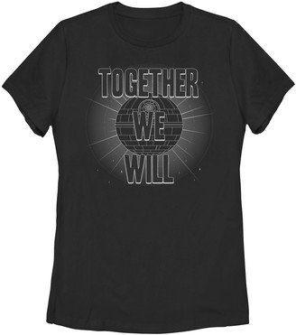 """Star Wars Juniors' Together We Will"""" Grey Scale Logo Tee"""