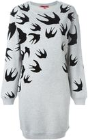 McQ by Alexander McQueen 'Swallow' sweatshirt dress - women - Cotton/Polyester - XS