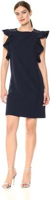 Sharagano Women's Ruffle Dress