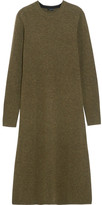 Joseph Merino Wool Midi Dress - Army green
