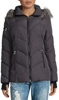 Nautica Faux Fur Trimmed Hooded Puffer Jacket