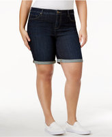 Style&Co. Style & Co Plus Size Cuffed Denim Shorts, Created for Macy's