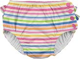 I Play Ruffle Snap Reusable Absorbent Swim Diaper - Pink - 3T