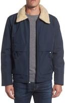 Andrew Marc Men's Porter Faux Shearling Collar Aviator Jacket