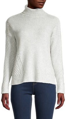 Design 365 Mixed-Stitch Turtleneck Sweater