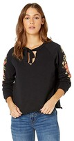 Thumbnail for your product : Rock and Roll Cowgirl Raglan Top with Floral Puff Print 48T6266