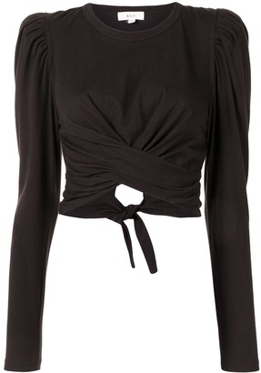 A.L.C. Twist-Detailing Cropped Jersey Top