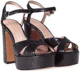 Marc Jacobs Debbie Snake-printed Leather Platform Sandal