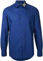 Alexander McQueen moth collar shirt - men - Cotton - 15