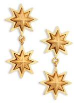 Stephanie Kantis Double Sunburst 24K Yellow Gold Drop Earrings