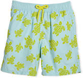 Vilebrequin Flocked Turtle Swim Trunks, Size 10-14