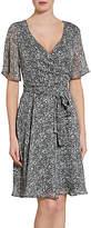 Gina Bacconi Itsy Metallic Chiffon Dress, Black/White