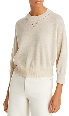 Frame Le High Rise Cashmere & Wool Boxy Sweater