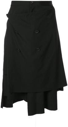 Yohji Yamamoto Tailored Asymmetric Shorts