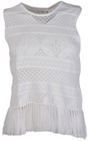 A.L.C. Embroidered Tucker Top