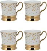 10 Strawberry Street Heart & Dot Thimble Porcelain Mugs (Set of 4)