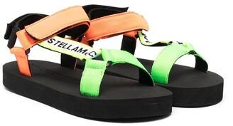 Stella McCartney Kids Logo Strap Sandals