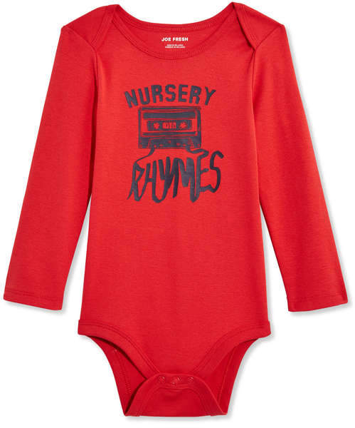 Joe Fresh Baby Boys Long Sleeve Bodysuit