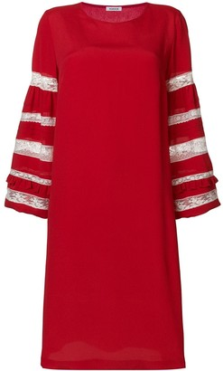 P.A.R.O.S.H. lace sleeves insert dress