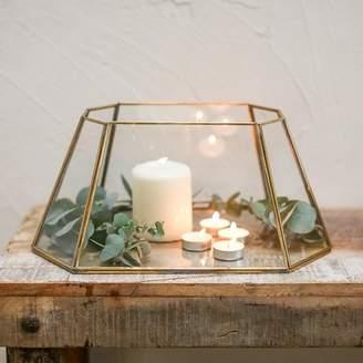 Nkuku Morvi Lantern Antique Brass - Copper