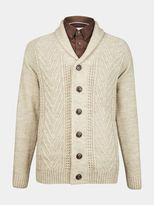 Burton Burton Oatmeal Shawl Neck Cable Cardigan
