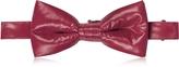 Forzieri Purple Red Nylon Puffer Bow Tie