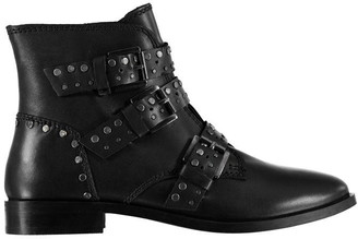 Feud Studded Buckle Boots