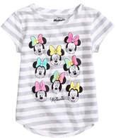 Disney Minnie Mouse Striped T-Shirt, Little Girls